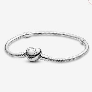 Pandora Heart Charm Bracelet, 7.1 New Authentic